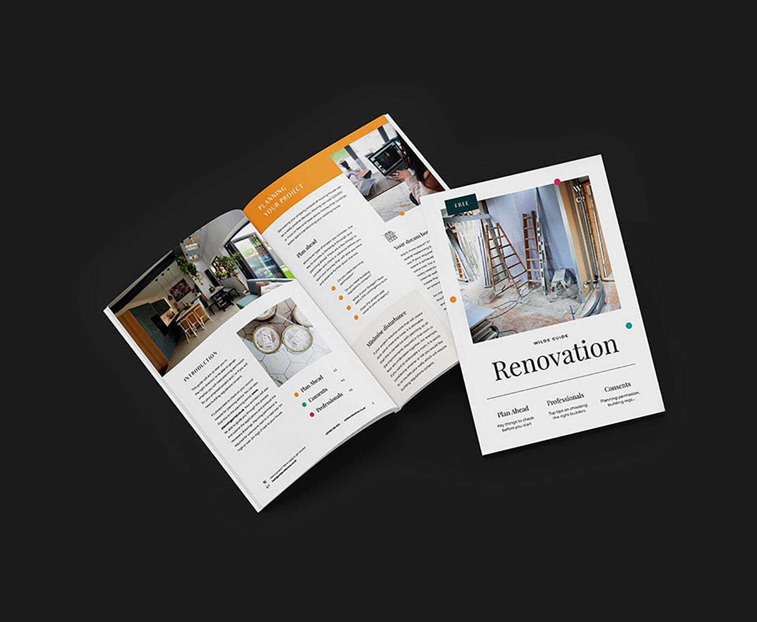 renovation guide mockup